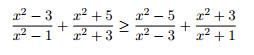Carilah semua bilangan real x yang memenuhi pertidaksamaa