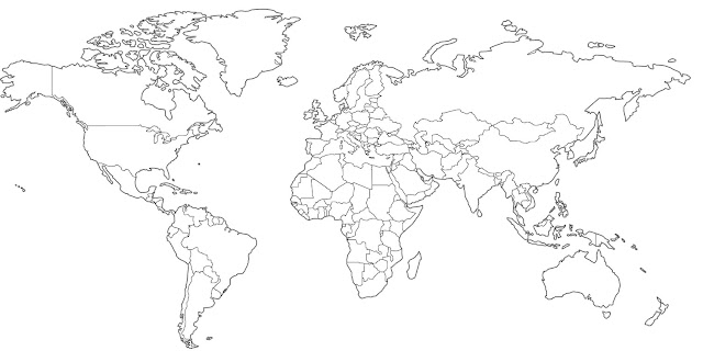 image: World Country Outline Maps