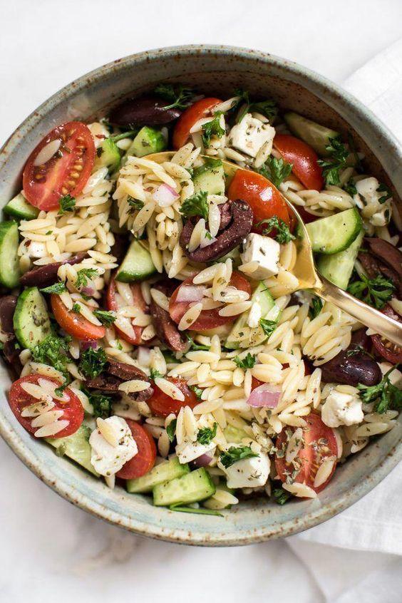 Healthy Mediterranean Orzo Salad