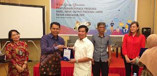 Kepala BPS Provinsi Jambi Secara Resmi Membuka Penyusunan Neraca Produksi Tabel Input Output Provinsi Jambi Tahun Anggaran 2019.