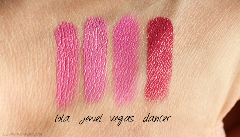 sleek showgirl swatches