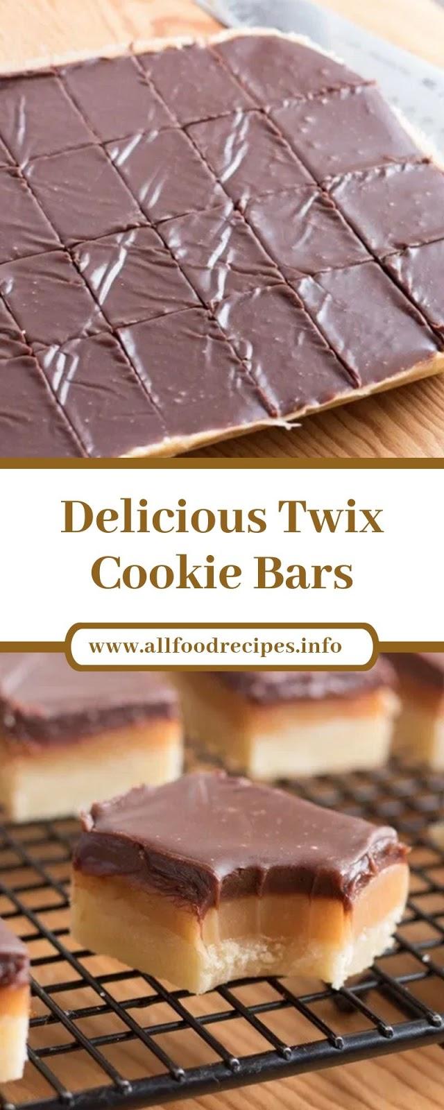 Delicious Twix Cookie Bars