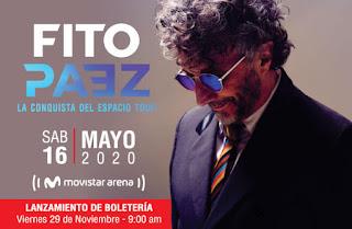 Concierto de FITO PÁEZ en Bogota 2020