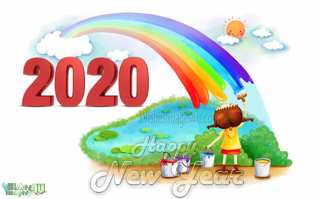 Happy New Year 2020 3D Images