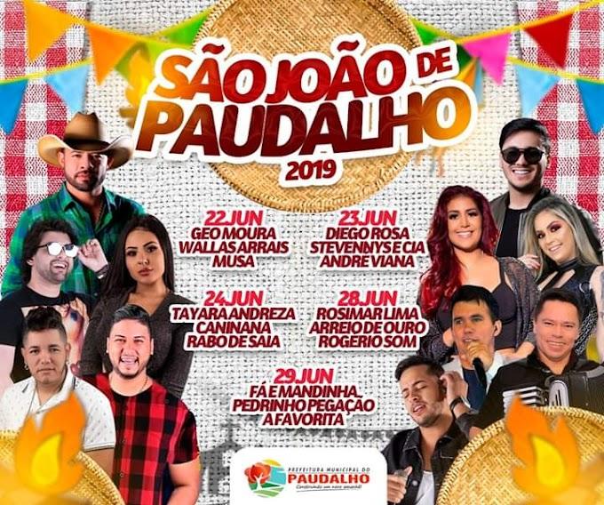 Prefeitura do Paudalho divulga programação do São João 2019