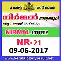 Nirmal Lottery NR-21 Results 09-6-2017