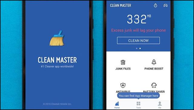 Clean master aplikasi pembersih file sampah di hp android