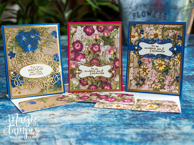 Superbe trio de cartes faciles avec le lot Band together Stampin' Up!