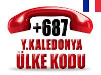 +687 Yeni Kaledonya ülke telefon kodu