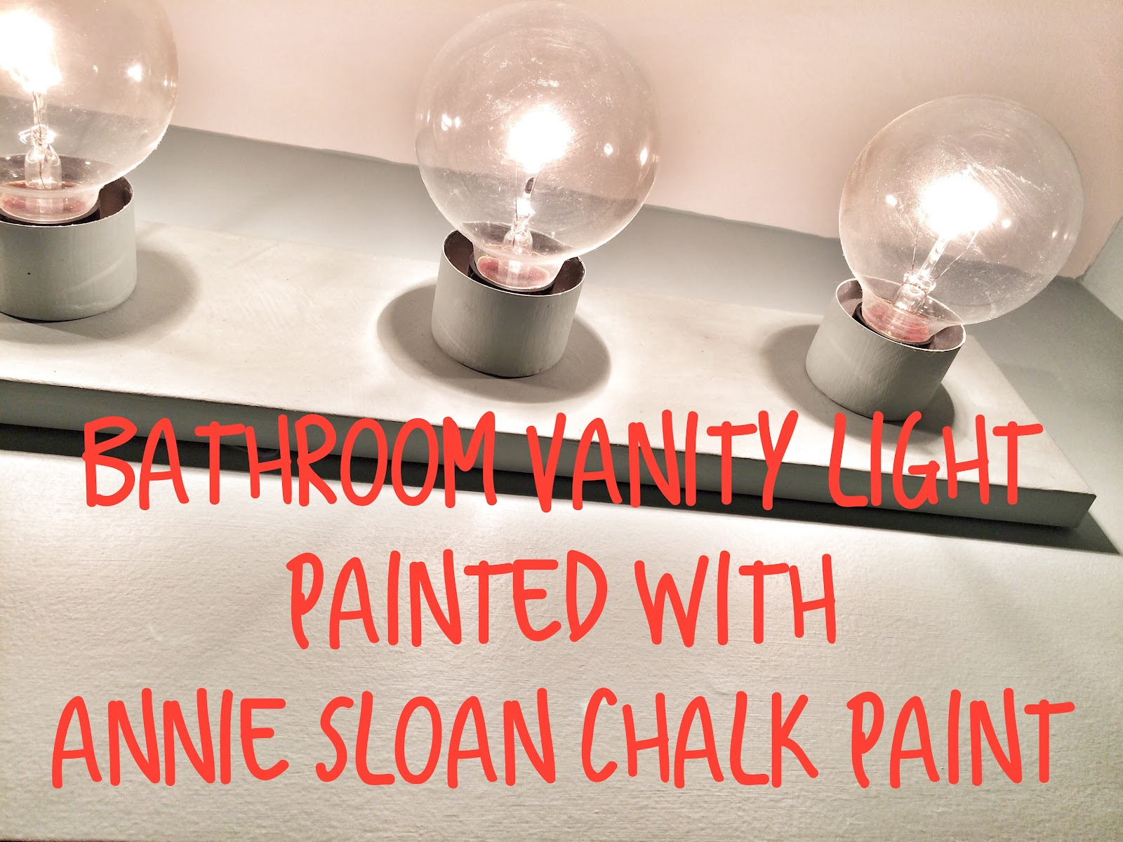 How To Paint Over Old Bathroom Cabinets the lowcountry lady: bathroom vanity light made over with annie