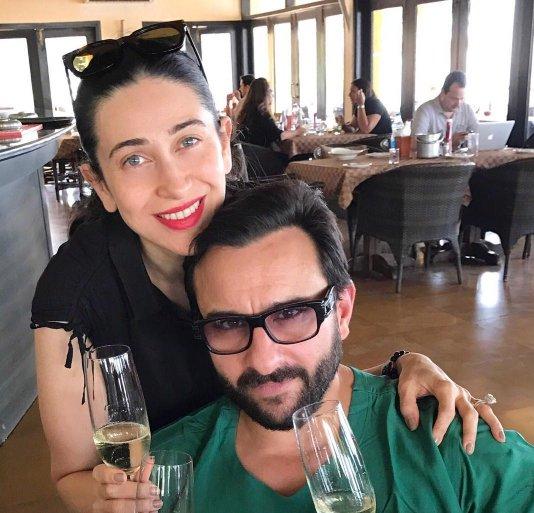 "Karisma and Saif celebrating the birth of ""Taimur"""