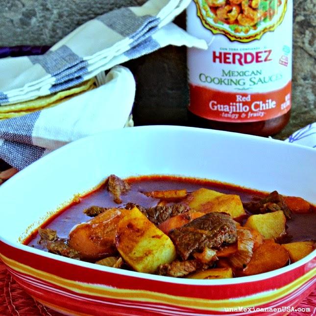 Receta Mexicana fácil de carne con papas by www.unamexicanaenusa.com