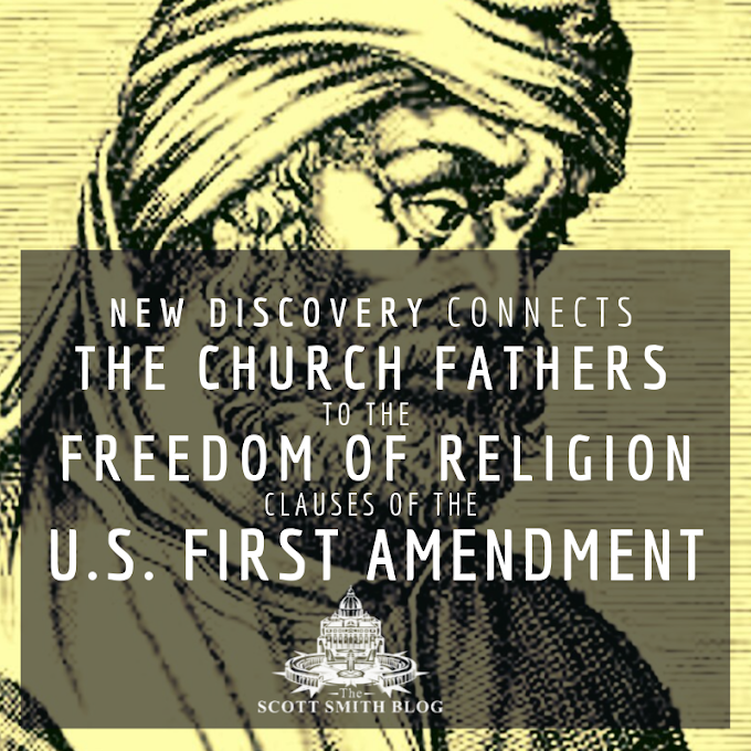 New Research Connecting Tertullian to the U.S. First Amendment Freedom of Religion Clauses