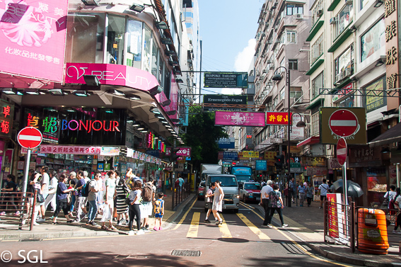 Nathan Road en Hong Kong, la antigua colonia britanica