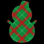 クリスマスのマーク(チェック・雪だるま)