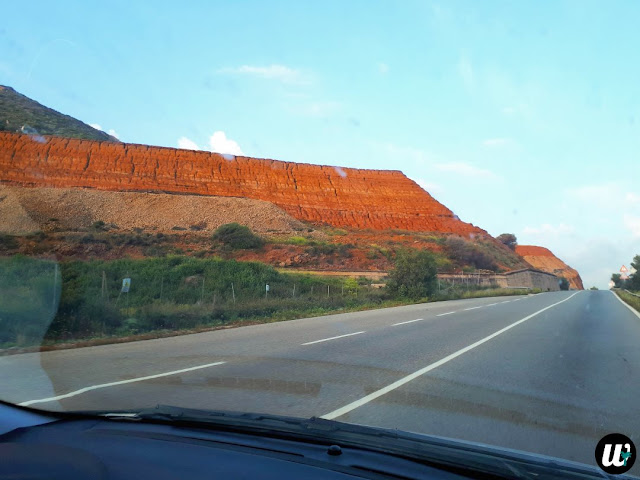 Red hill by the road, driving | Sardinia, Italy | wayamaya