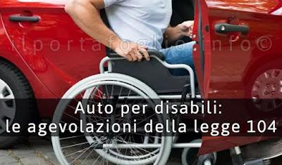 agevolazioni legge 104 auto per disabili