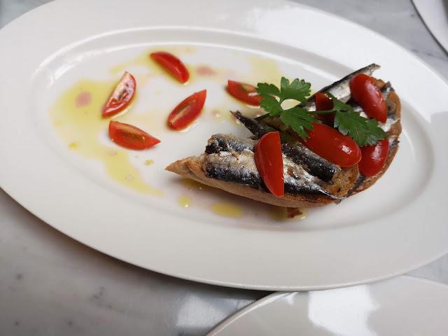 Fillets of Sardines on Toast