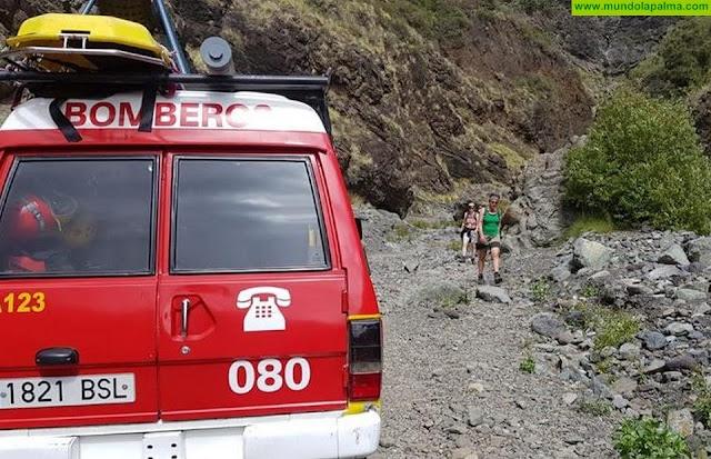 Rescatada una senderista herida en San Andrés y Sauces