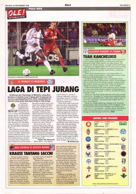 UEFA CUP 1998 AS MONACO VS MARSEILLE