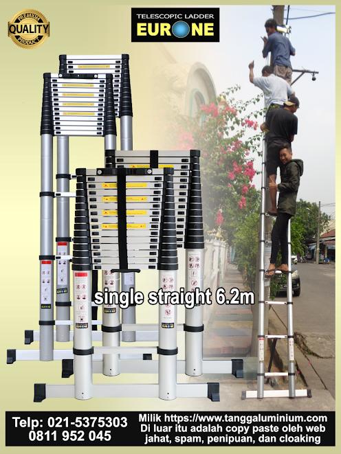 Tangga Aluminium Teleskopik 6 Meter