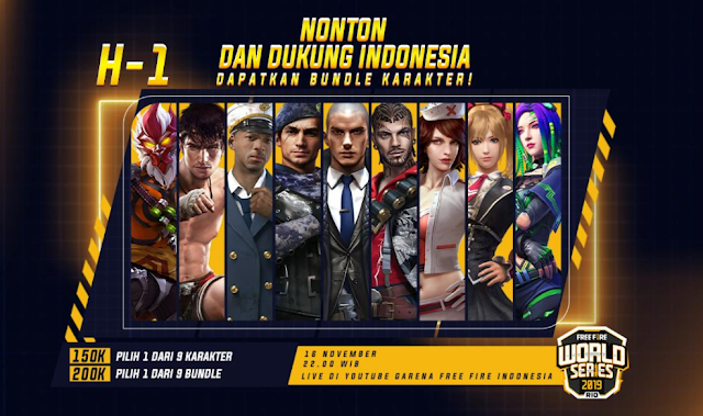 Event Hadiah Milestone Live Stream FFWS Free Fire World Series 2019