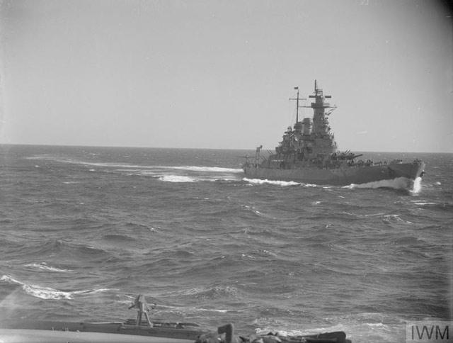 Battleship USS Washington on patrol in the Barents Sea ca. 3 May 1942 worldwartwo.filminspector.com