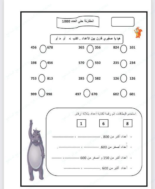 مراجعة اختبار الرياضيات للصف الثاني الفصل الدراسي الثاني 2017