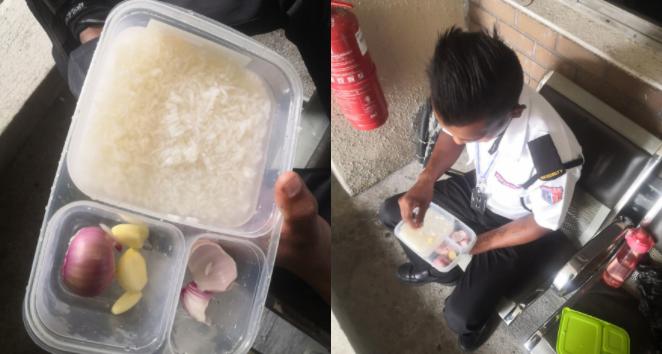 Para sa pamilya: Sibuyas at Bawang ang inuulam ng security guard na ito para lang mas malaki ang maipapadalang pera