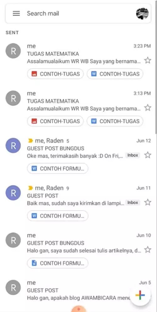 cara mengirim tugas email hp