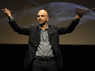Saviano makes speaking engagements around the world,  campaigning against organised crime