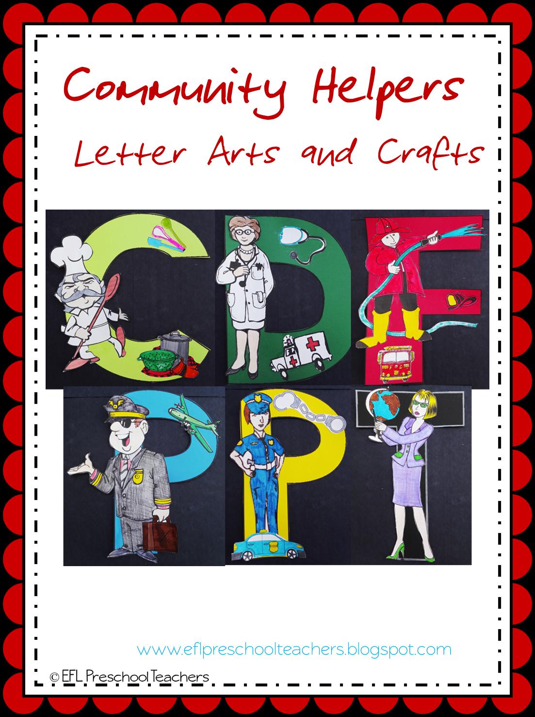 ESL/EFL Preschool Teachers: Community Helpers Worksheets ...
