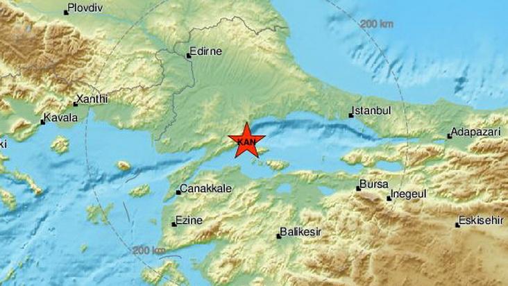 Σεισμός 4,4 Ρίχτερ στη Θάλασσα του Μαρμαρά στη βορειοδυτική Τουρκία
