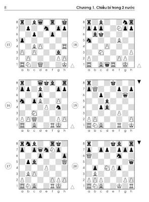 Level 3 - Sách bài tập cờ vua chủ đề chiếu bí 2 nước cho bé