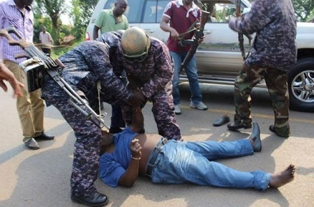 Shocking! Man Arrested and Maltreated for Overtaking Vice President's Convoy (Photos)
