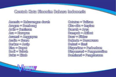 Pengertian Beserta Contoh Kata Sinonim Dan Kalimatnya Dalam Bahasa Indonesia Lengkap