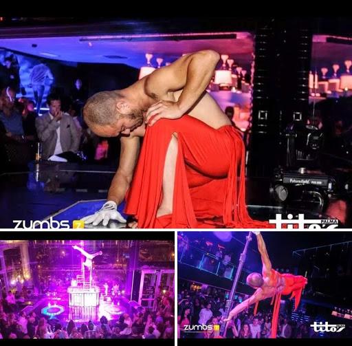 Perfomance en Titos discoteca de Palma de Mallorca