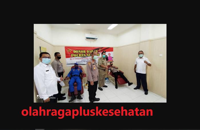 Jajaran Polres Subang Lakukan Aksi Donor Darah