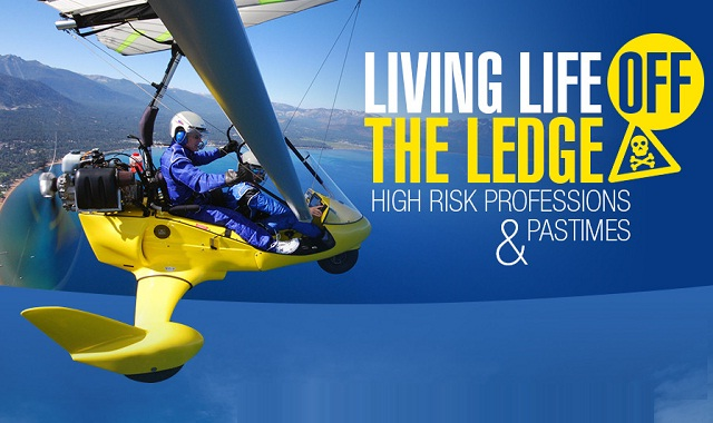 Image: Living Life Off the Ledge, High Risk Professions and Pastimes #infographic