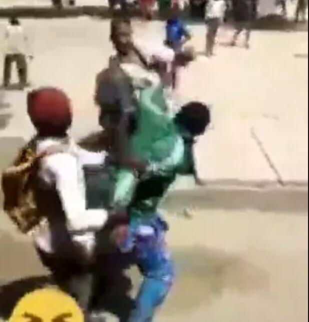 Secondary school students caught on camera beating their teacher in Katsina (video)
