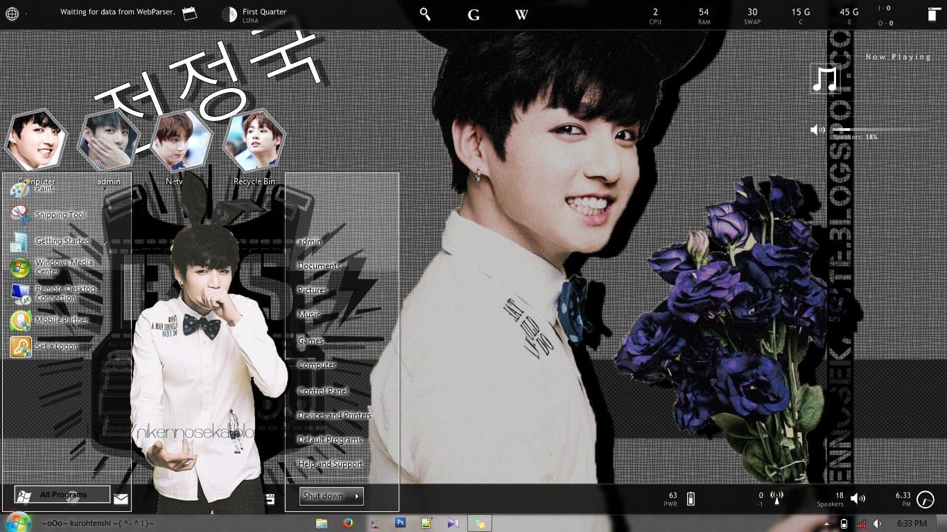 Download theme windows themewin7 bangtanboys bts jeon jungkook by kurohtenshikawaii theme