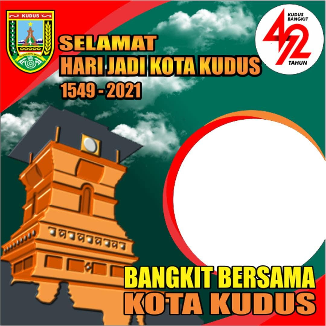 Template Desain Frame Bingkai Twibbon HUT Kota Kudus ke-472 Tahun 2021