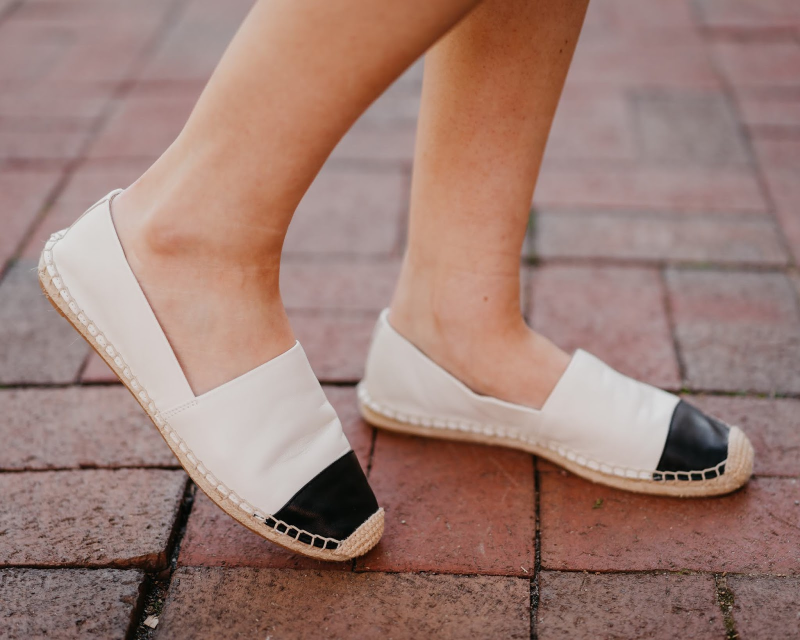 Chanel Espadrille dupes, spring outfit