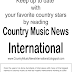 Country Music News International Newsletter March 18. 2017