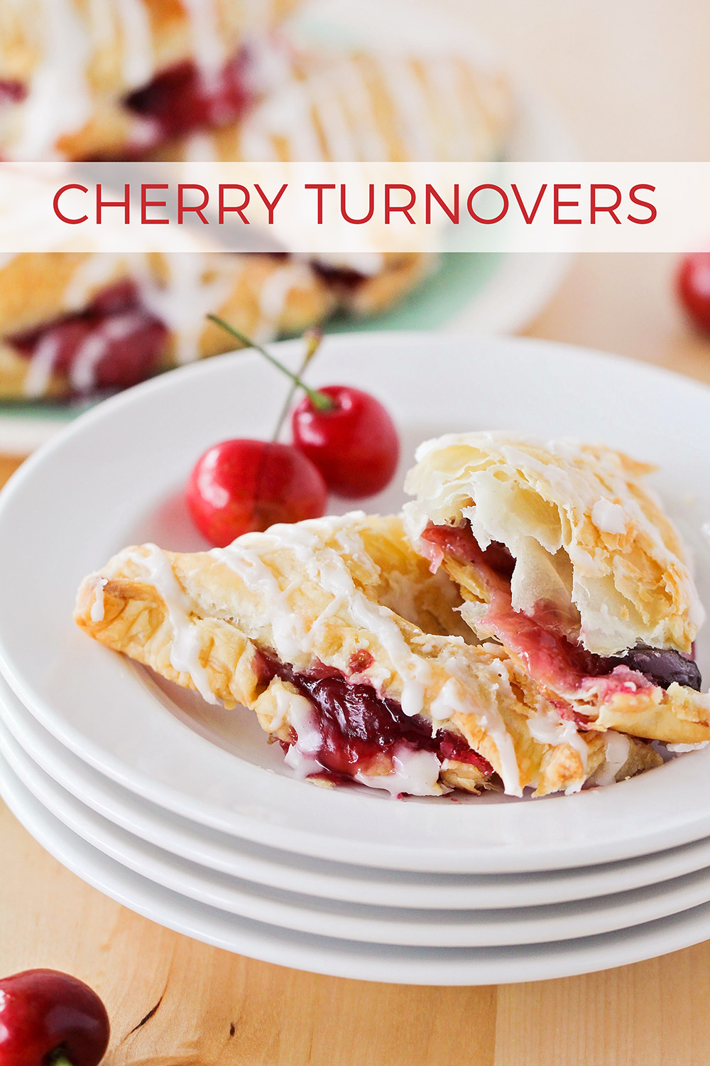 These flaky and sweet cherry turnovers are bursting with fresh cherries and drizzled with a sweet almond glaze. Perfect for breakfast, brunch, or dessert!