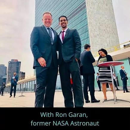 Pratik Gauri with Ron Garan