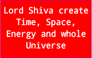 Lord Shiva create time space and whole universe