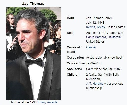 Jay Thomas (actor) dies of cancer at 69