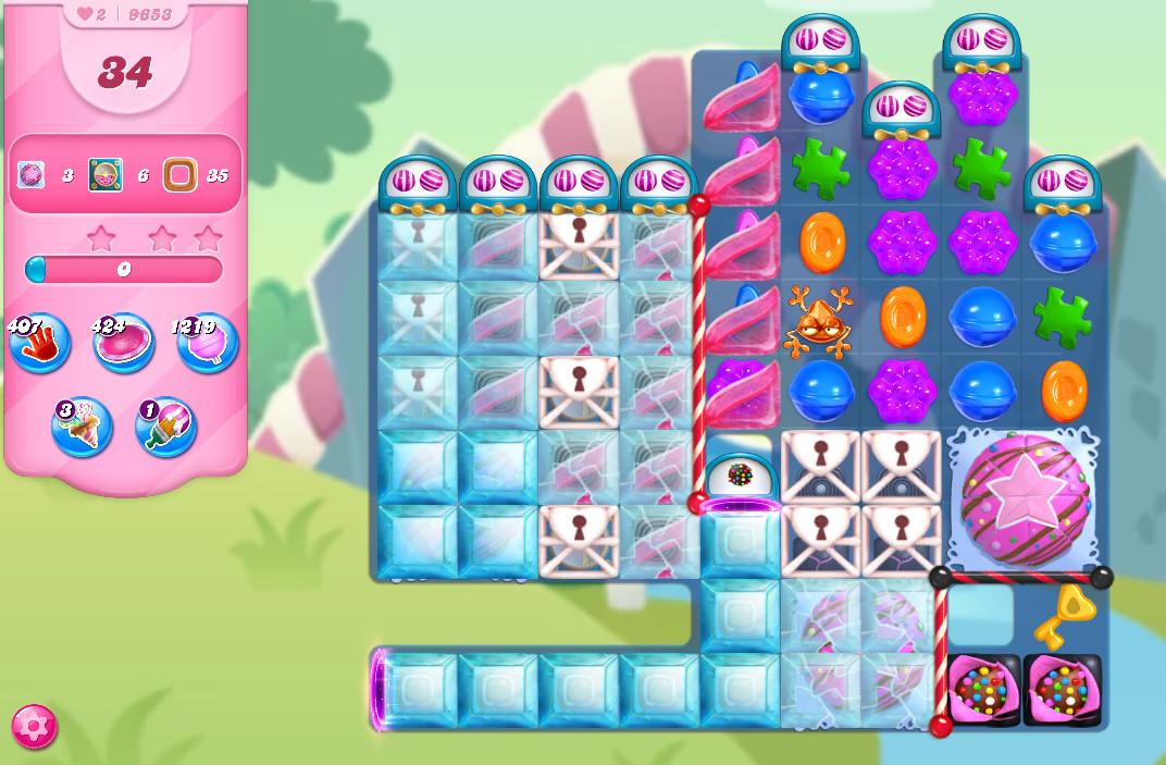 Candy Crush Saga level 9653