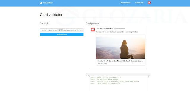 Kode Twitter Card Untuk Atasi Gambar Thumbnail Artikel Tidak Muncul di Twitter
